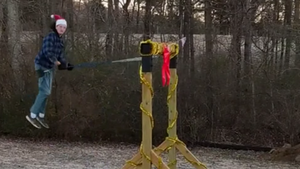 When 7 Foot Tall Gentle Giant With Autism Outgrows Swing