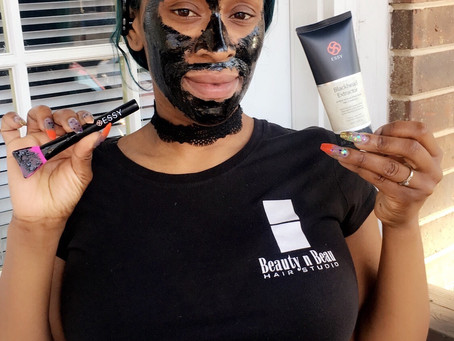 Masking your way to cleaner skin! ESSY products are bomb dot com!