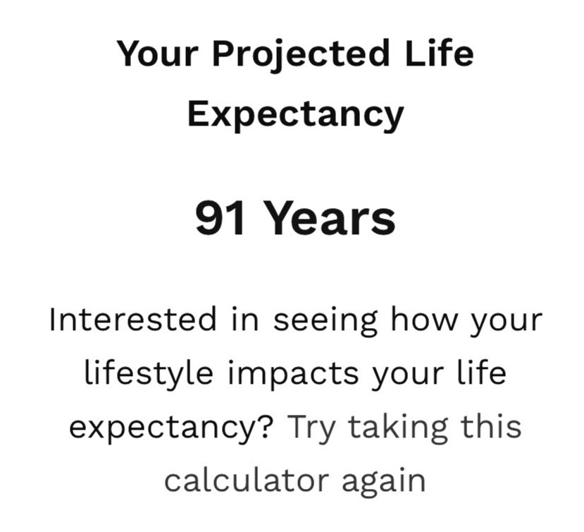 John Hancock's life expectancy, life expectancy calculator