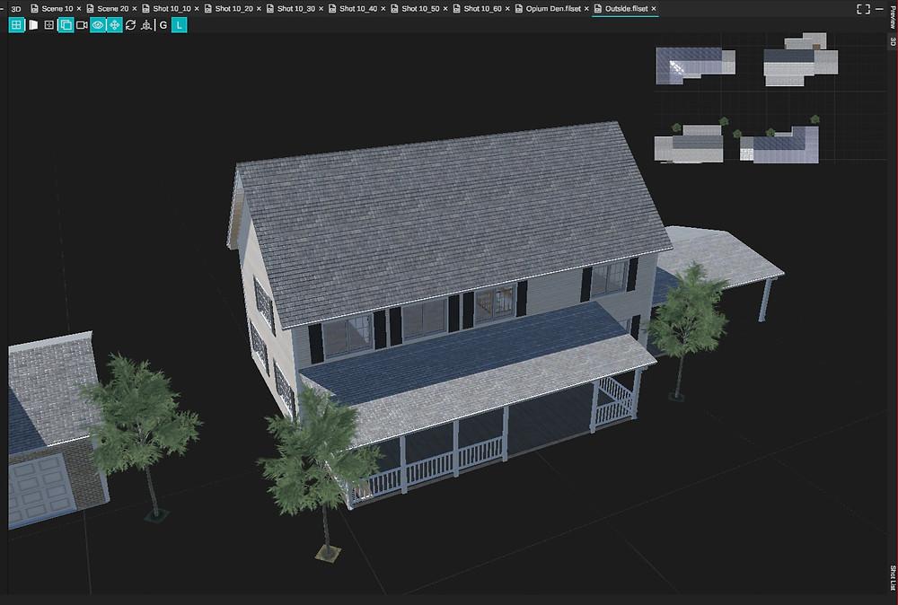 3D Model of a neighborhood set