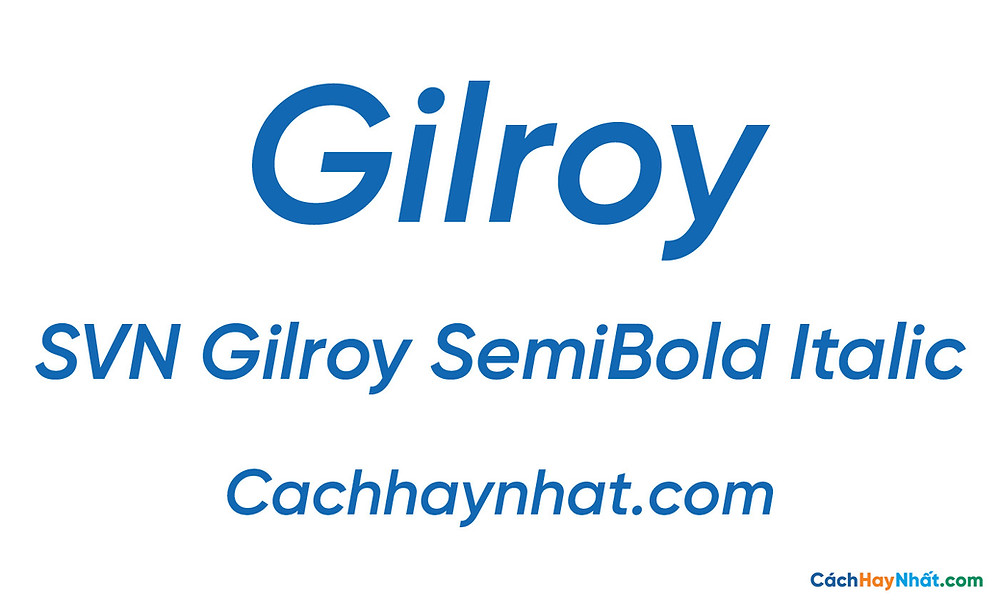 SVN Gilroy SemiBold Italic