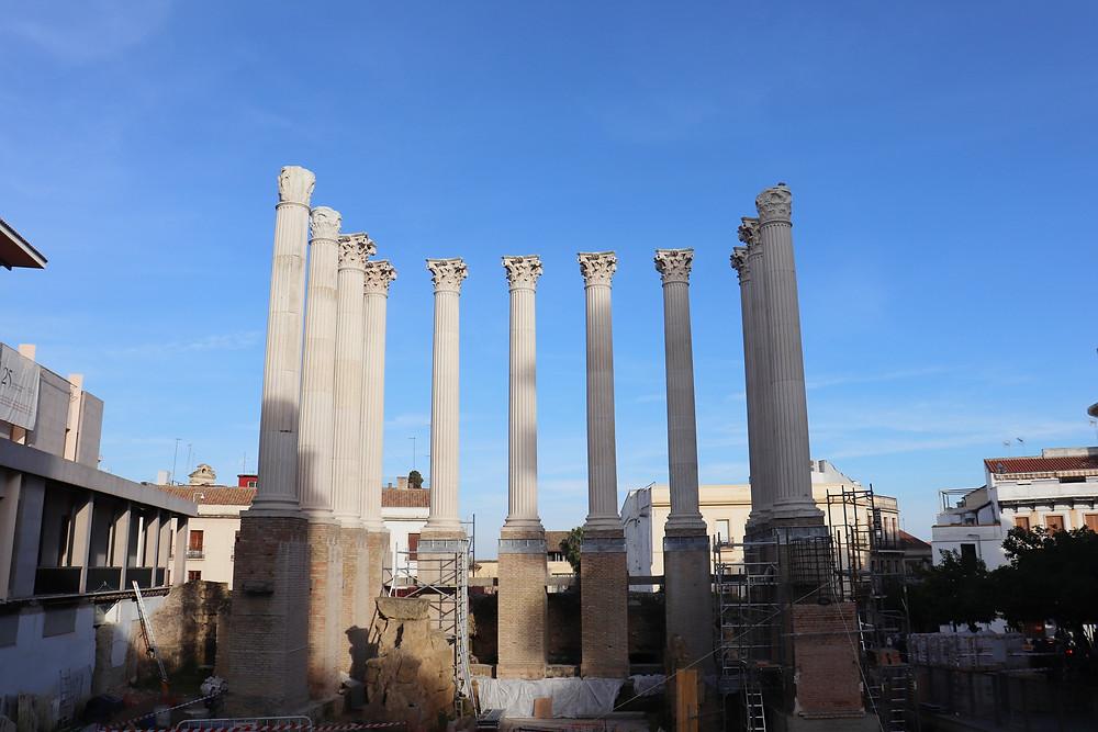 Roman Temple Ruins in Cordoba Spain