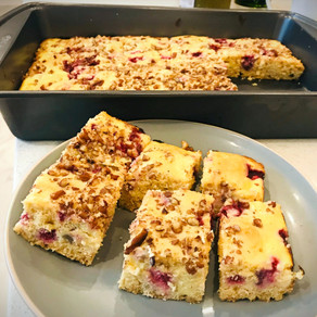 Raspberry Cream Cheese Swirl Blondies