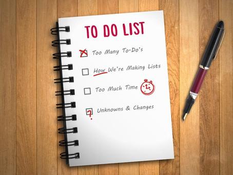 La To-Do List du bac 1
