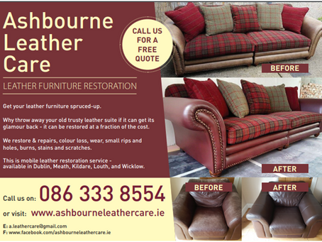 For a quotation please email us photos of your leather furniture to estimate.
