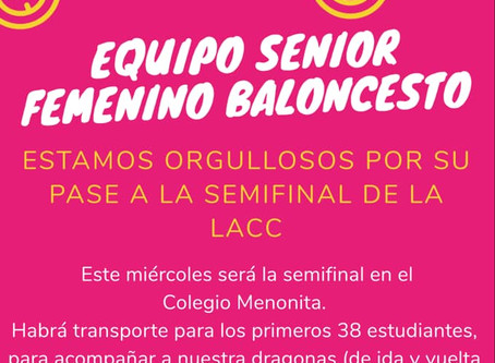 Apoyemos a nuestro equipo Senior Femenino de Baloncesto