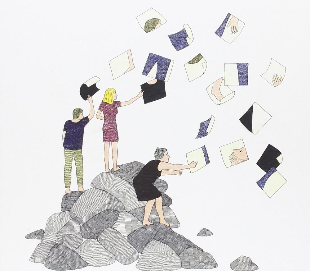 """Ilustración de Marion Fayolle para """"La ternura de las piedras"""" (Nórdica)"""