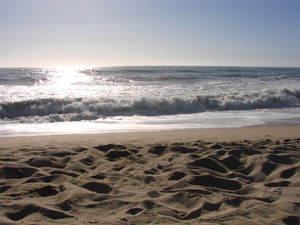 Waves in the sand. Waves in the sea. Nothing remains exactly the same.  - Taken in Half Moon Bay, CA.