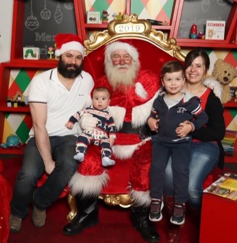 David, Daniel, Marc and Louise with Santa!