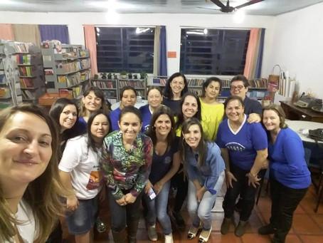 Oficina com professores e autora presenta na Escola Estadual Alfredo Saffi em Giruá/RS