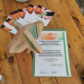 """Auszeichnung für den Erlebnisgarten der KGA """"Weiße Rose"""" e.V."""