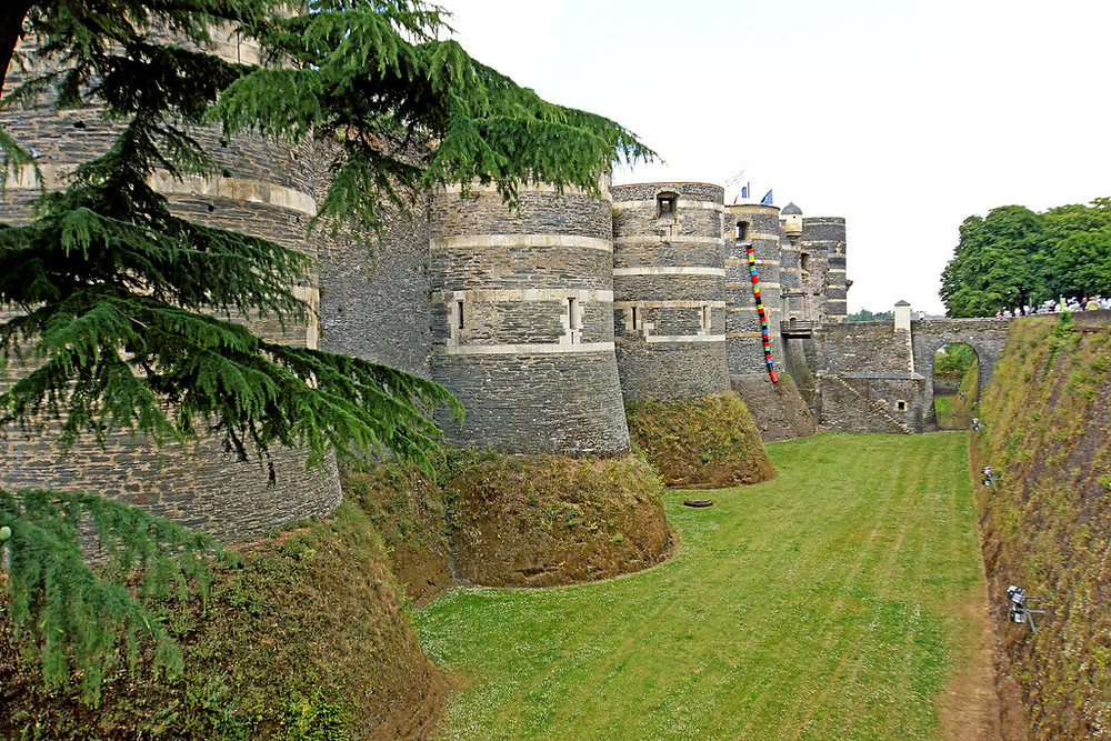 walls of the Chateau d'Angers