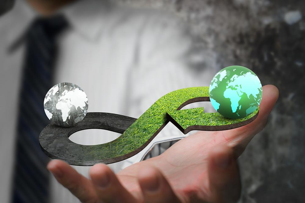 Wirtschaft muss in Gleichgewicht mit der Natur gebracht werden. Ständiges Wachstum zerstört die natürlichen Ressourcen