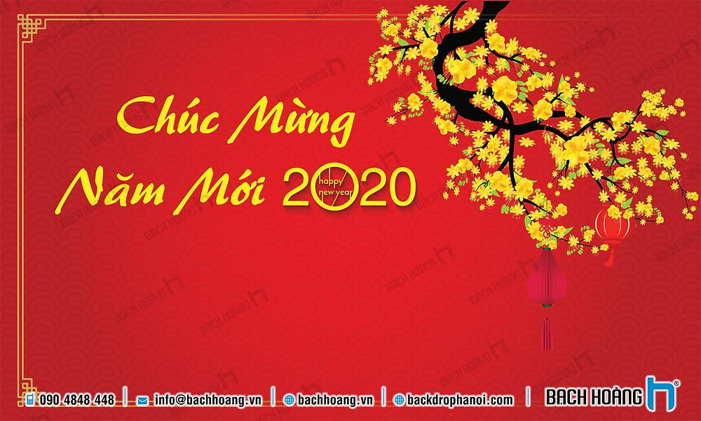Backdrop Phông Chúc Mừng Năm Mới, xuân Canh Tý 2020