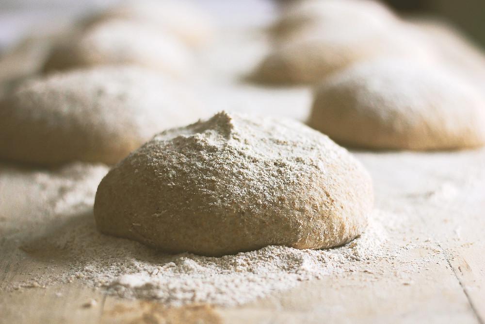 yeast dough flour