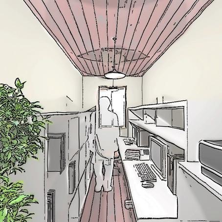 【空き家改修計画 in KASAMA】 改修後イメージスケッチ完成しました。