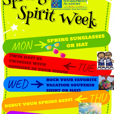 Spring Bling Spirit Week!