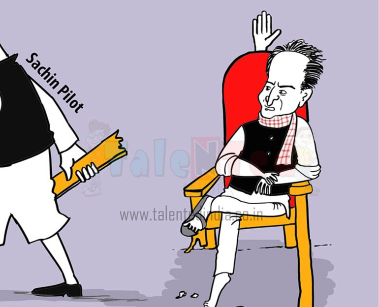 Sachin pilot disrupting the CM post
