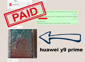 M3win Lucky Draw - Huawei y9 prime