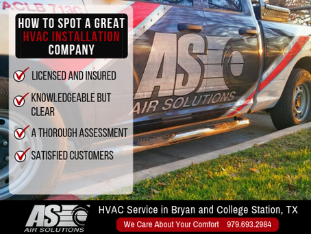 How to Spot a Great HVAC Installation Company
