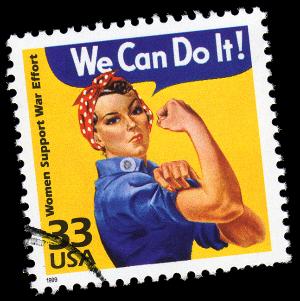 us postage stamp of rosie the riveter
