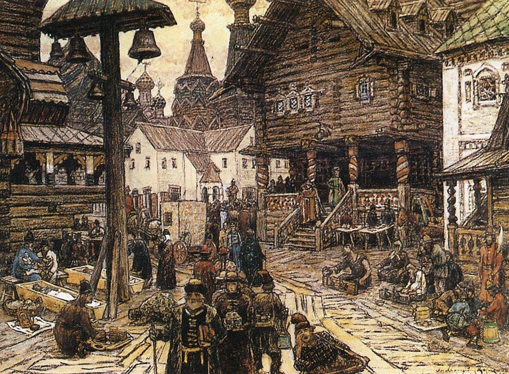 На крестце в Китай-городе (1902 год)