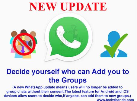 Whatapp New Update- No Groups