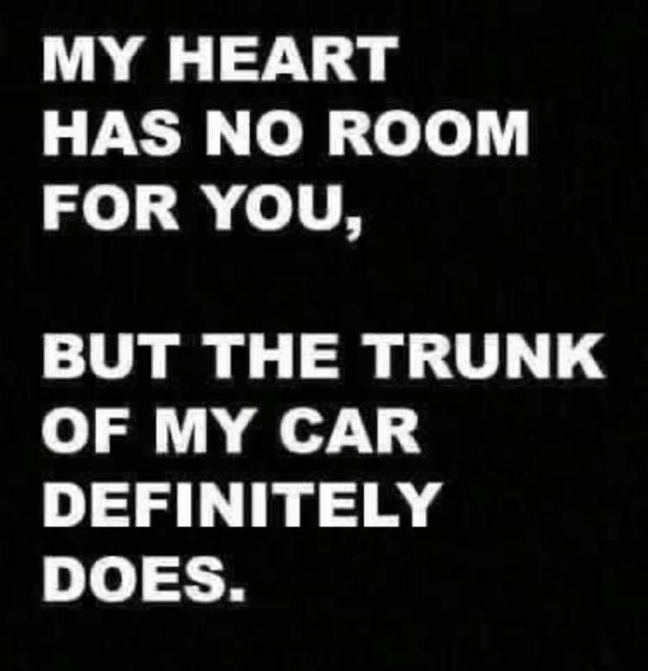Funny Trunk of Car Meme