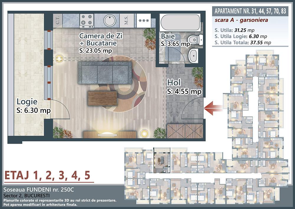 Neofort 10 Colentina Fundeni garsoniera apartament 1 camera investitie rezidential