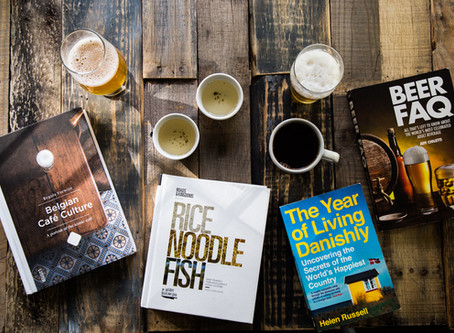 Books, Food, and Breweries.