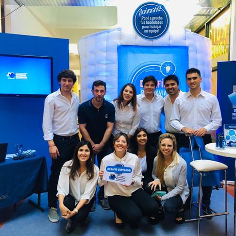 Seguros Rivadavia eligió la cabina inflable para el Expo Empleo La Plata