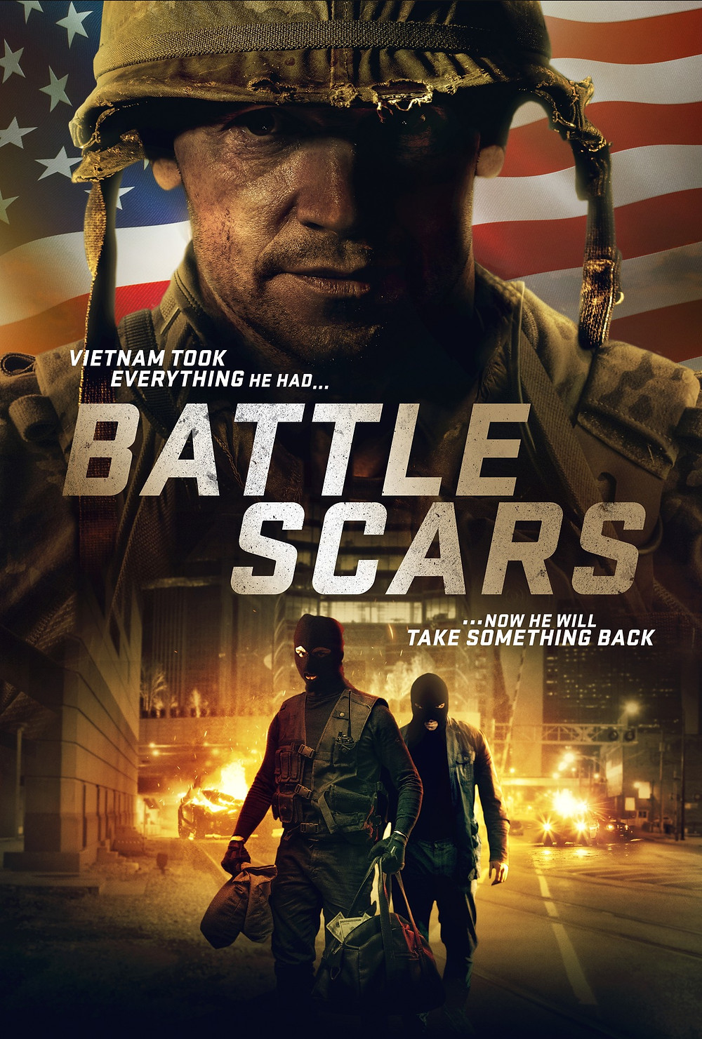 Poster for Battle Scars showing protagonist.