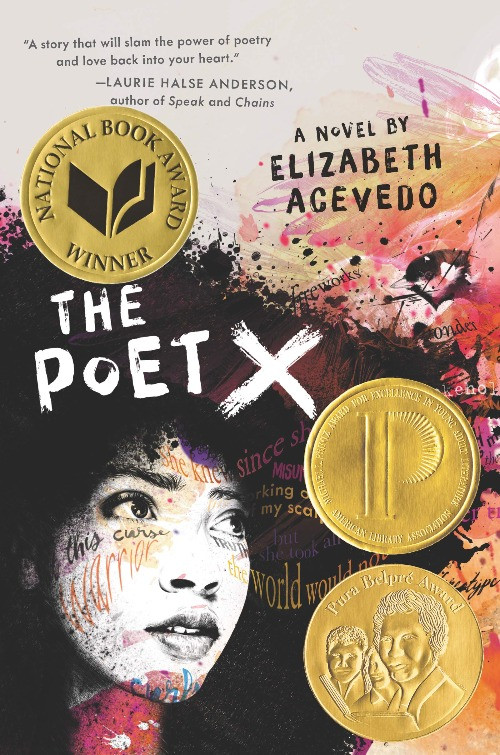 book cover of Elizabeth Acevedo's The Poet X
