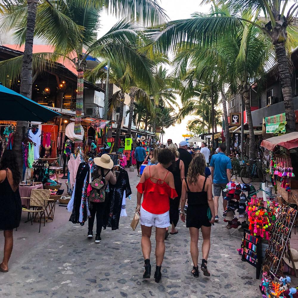Sayulita Mexico street downtown shopping