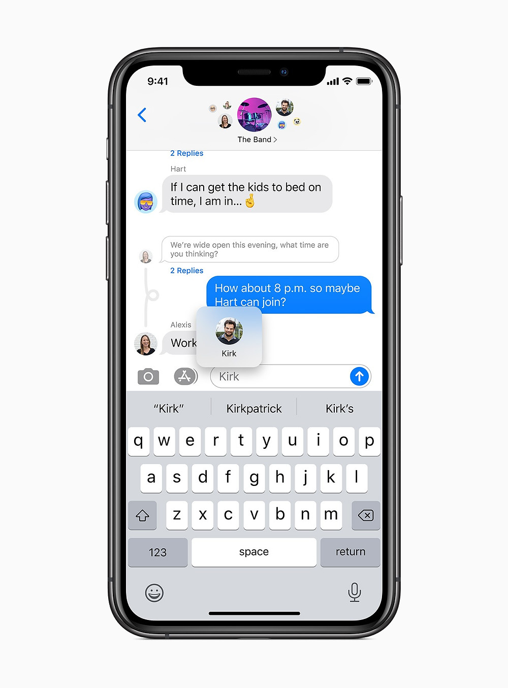 Pinned conversations come to Messages with iOS 14 in the fall.