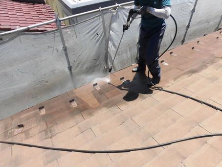 和光市で屋根外壁塗装工事が始まりました!!