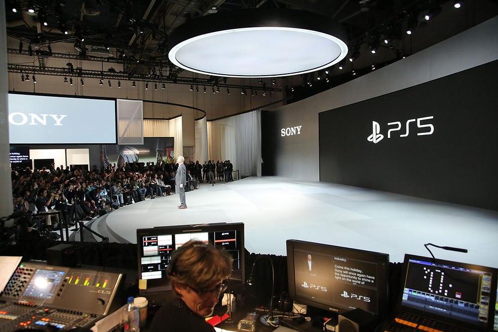 Sony lançamento PS5 feira de tecnologia