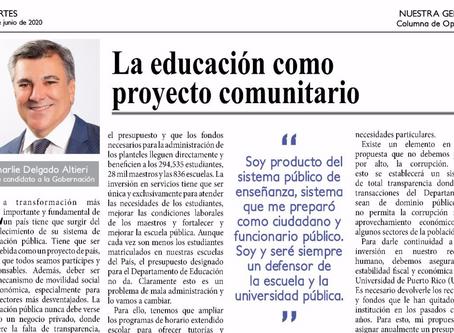 La educación como proyecto comunitario