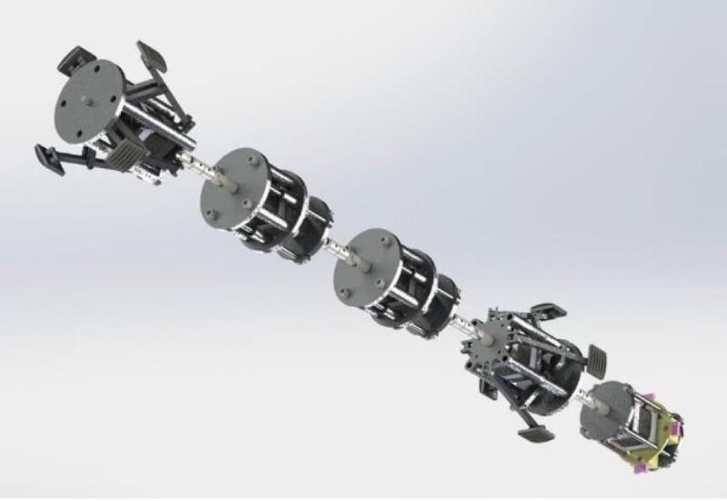 biomimétisme robot rampant chenille