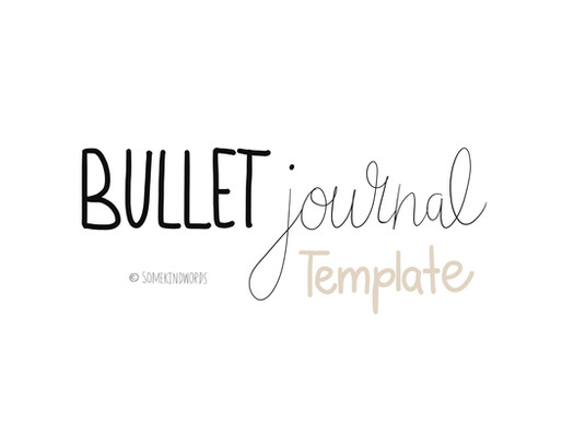 Minimalistic Bullet Journal template for printing