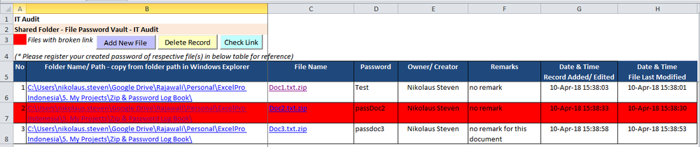 Create  Zip Password file with Excel? Is it even possible?