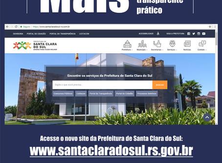 Prefeitura lança novo site à população