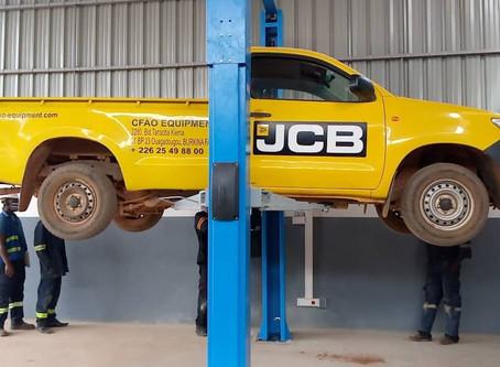 Approvisionnement et Installations de ponts élévateurs pour les ateliers CFAO au Burkina Faso.