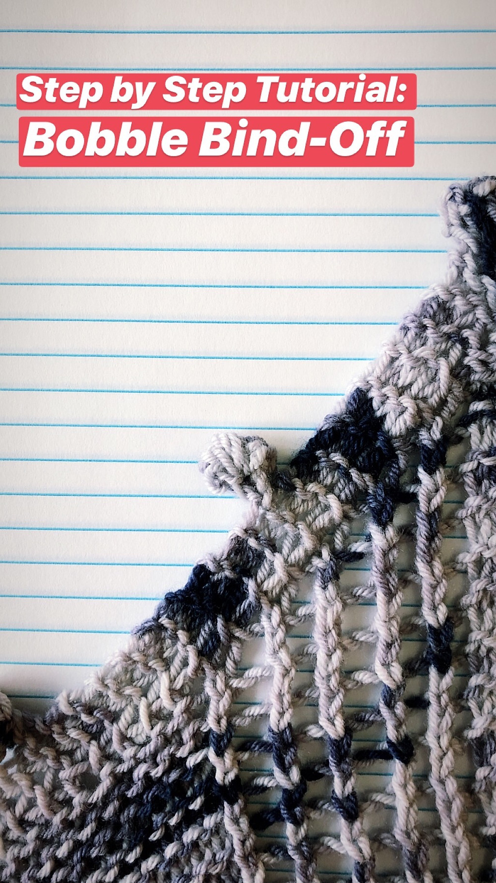 Step by Step Bobble Bind Off Knitting Tutorial