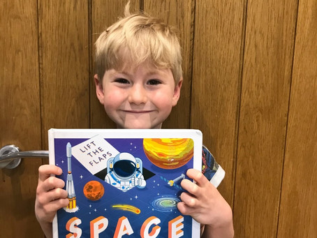 Oliver has been busy learning all about space.
