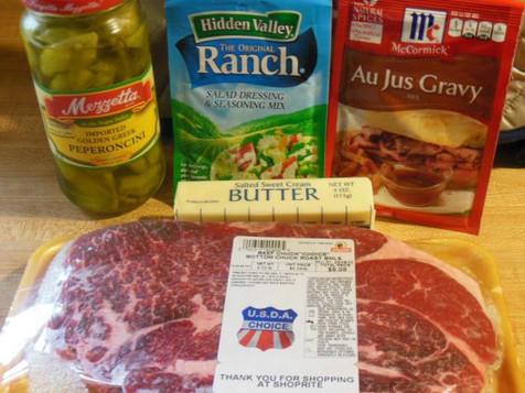 Easy Crock Pot Roast w/ Ranch & Au Jus