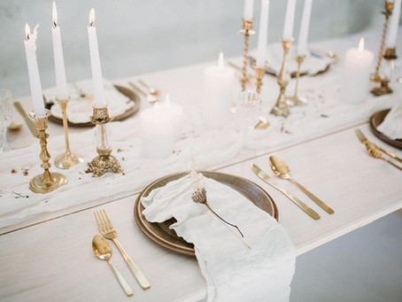 Elegant Neutral Wedding Color Palette with a Pop of Gold!