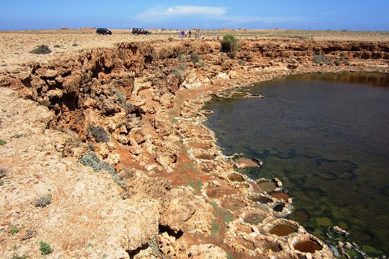 salt pans de l'Ile de Socotra au Yemen
