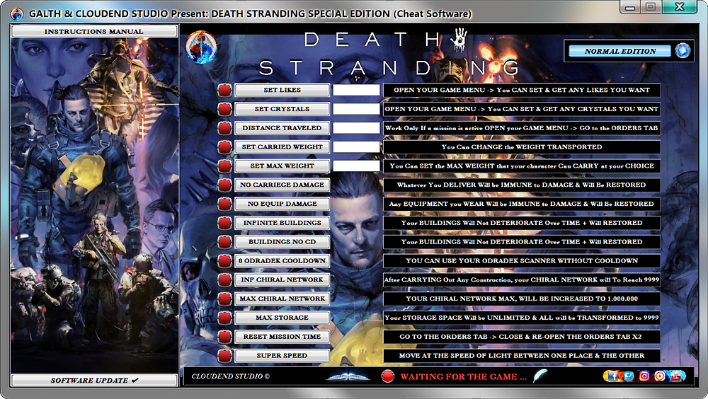 cloudend studio, Death Stranding, Death Stranding cheats, Death Stranding cheat engine, Death Stranding Trainer, Death Stranding Mods, Death Stranding Code, cheats trainer, super cheats, cheats, trainer, codes, mods, tips, steam, pc, cheat engine, cheat table, save editor, free key, tool, game, dlc, 100%, fearless revolution, wemod, fling trainer, mega dev, mega trainer, rpg, achievements, cheat happens, читы, 騙す, チート, 作弊, tricher, tricks, engaños, betrügen, trucchi, news, ps4, xbox, Youtube Game, hack, glitch, walkthrough, Baby Bridge, Beached Things, CA, BT, Best Weapons,