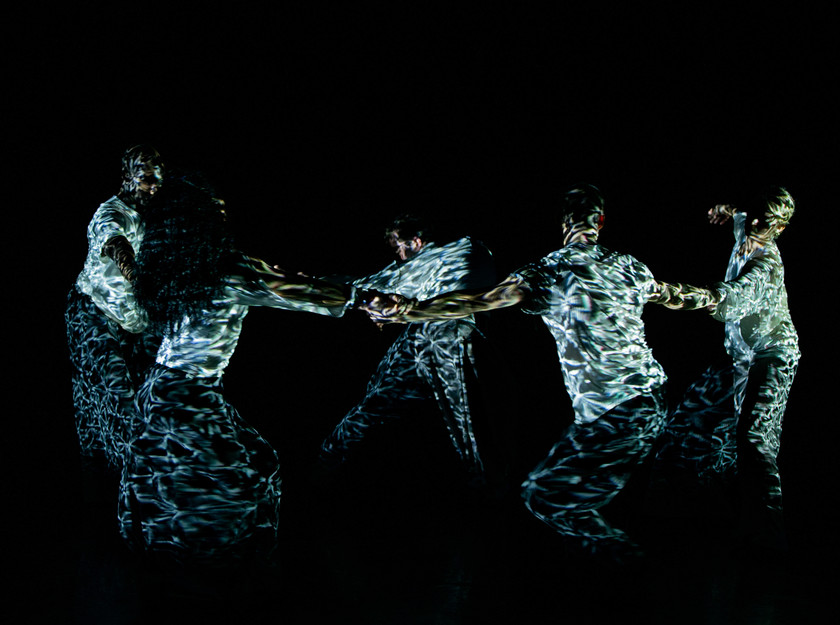Members of the Russell Maliphant Company in the award-winning choreographer's new work, Silent Lines, at The Lowry.
